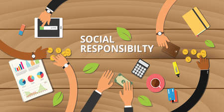 customer business social responsibility concept team work together