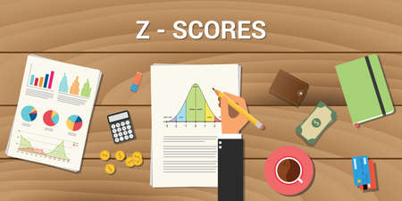 z-score interactive graph normal distribution curve calculate calculation Vettoriali