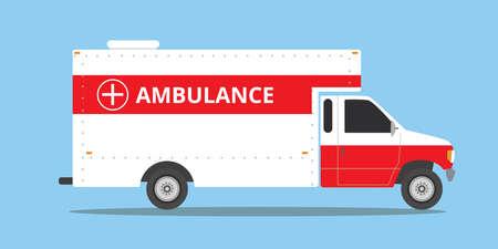 emergency vehicle: ambulance car vehicle emergency with fast come isolated