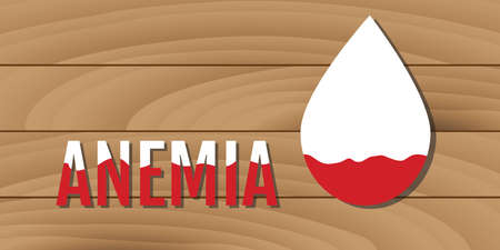 deficiency: anemia concept with low blood illustration
