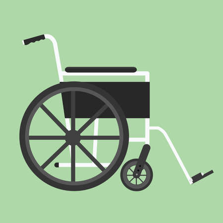 wheelchair isolated with silhouette illustration