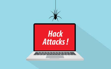 notebook: Hack attacks concept