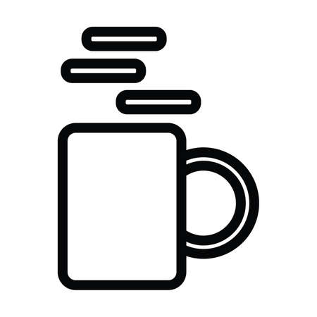 a cup of coffee icon with outline style vector illustration
