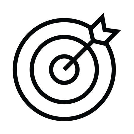 goals icon with outline style vector illustration