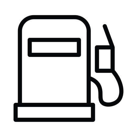 Fuel icon with outline line style vector illustration