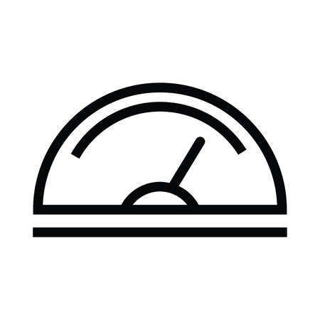 Speedometer line icon, data and analytics with outline style vector illustration