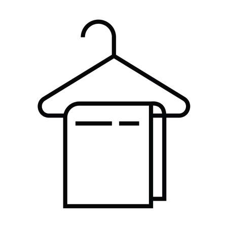 A hanger with tower icon with outline line style vector illustration Vettoriali