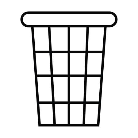 toilet trash icon with outline and line style vector illustration Illustration