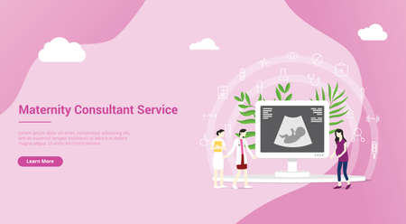 maternity or pregnancy concept for website landing homepage template banner - vector illustration
