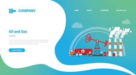 oil and gas industry for website template or landing homepage banner