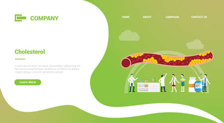 cholesterol human vein with doctor analysis healthcare for website template or landing homepage banner