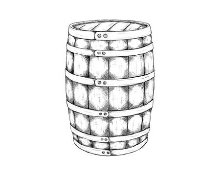 barrel single for wild west icon sketch hand drawn illustration isolated with white background