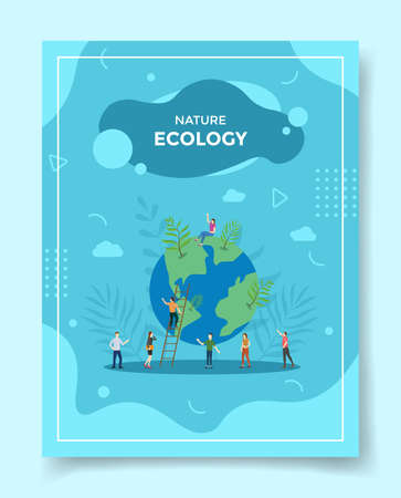 ecology or environment concept for template of banners, flyer, books cover, magazine vector illustration