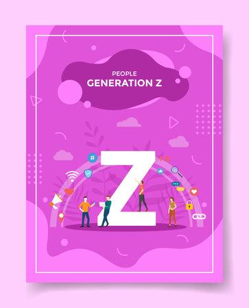 generation z for template of banners, flyer, books cover, magazine vector illustration Ilustração