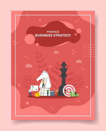 business strategy for template of banners, flyer, books cover, magazine vector illustration