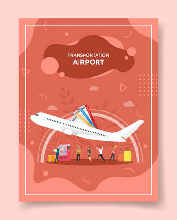 airport concept for template of banners, flyer, books cover, magazine vector illustration
