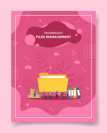 files management for template of banners, flyer, books cover, magazine vector illustration