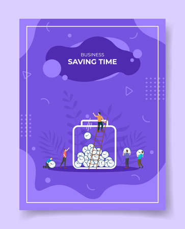 saving money concept for template of banners, flyer, books cover, magazine vector illustration
