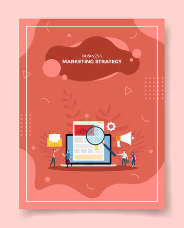marketing strategy concept for template of banners, flyer, books cover, magazine vector illustration