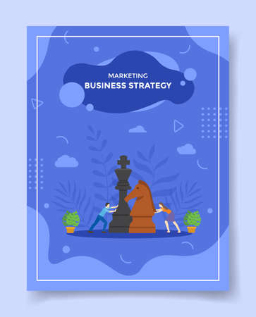 business strategy concept for template of banners, flyer, books cover, magazine vector illustration Ilustração