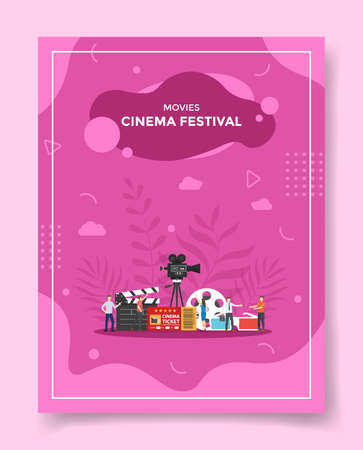 movies cinema festival concept for template of banners, flyer, books cover, magazine vector illustration