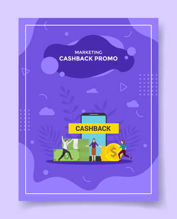 cashback promotion concept for template of banners, flyer, books cover, magazine vector illustration