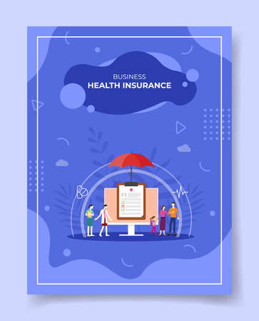 health insurance concept for template of banners, flyer, books cover, magazine vector illustration