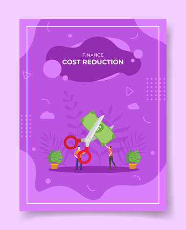 cost reduction concept for template of banners, flyer, books cover, magazine vector illustration Ilustração