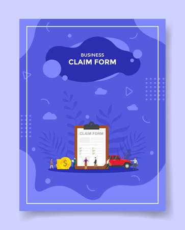 business claim form concept for template of banners, flyer, books cover, magazine vector illustration