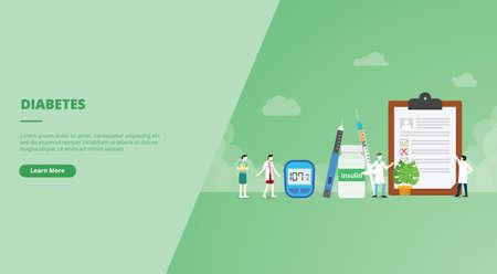 diabetes concept for website design template banner or slide presentation cover vector illustration Ilustração