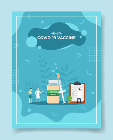vaccination for template of banners, flyer, books cover, magazine with liquid shape flat style vector illustration