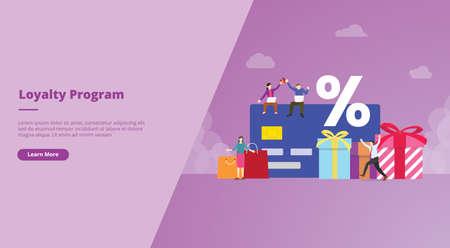 loyalty program for website design template banner or slide presentation cover Ilustração