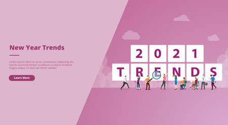 new year 2021 trends for website design template banner or slide presentation cover