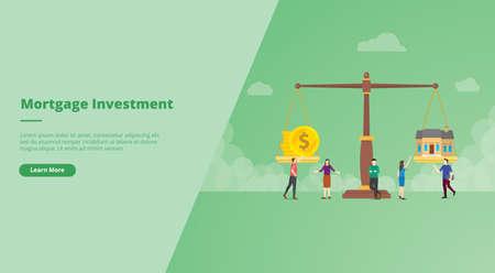 real estate or house investment for website design template banner or slide presentation cover Ilustração