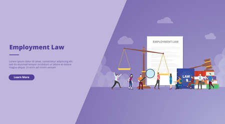employment law for website design template banner or slide presentation cover