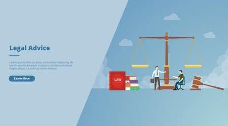 legal advice for website design template banner or slide presentation cover