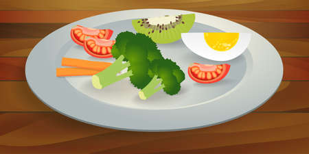 BLW, baby led weaning, fruits and vegetables on a plate, solid food