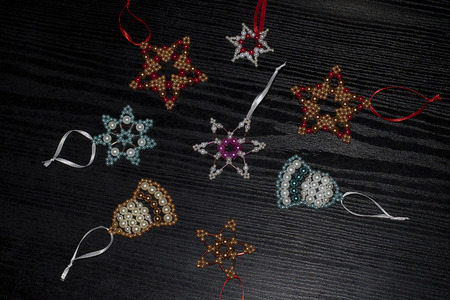 colorful glowing christmas decorations