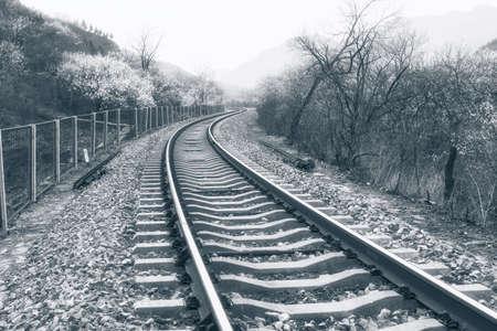 railways tracks photo