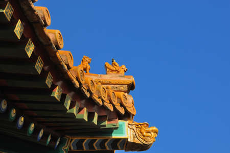eaves: Beijing ancient building eaves Editorial