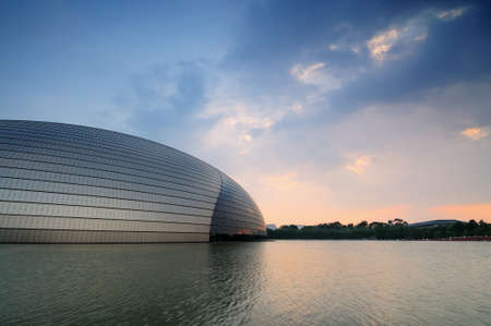 performing arts: Beijing, China - June 20st, 2014: The National Center for the performing arts, the National Grand Theater an egg shape. Editorial