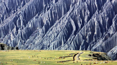 xinjiang: Kuitun Grand Canyon Chine Xinjiang Banque d'images