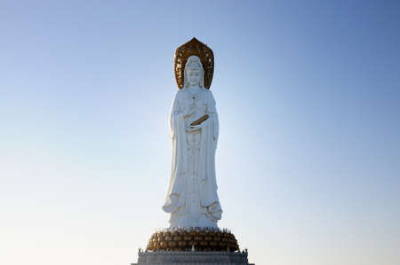 quan yin: Quan Yin (goddess of mercy) in center of Buddhism of Sanya city, Hainan province, China. Stock Photo