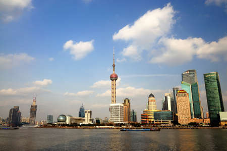 chinese dialect: Shanghai beautiful night view of Pudong