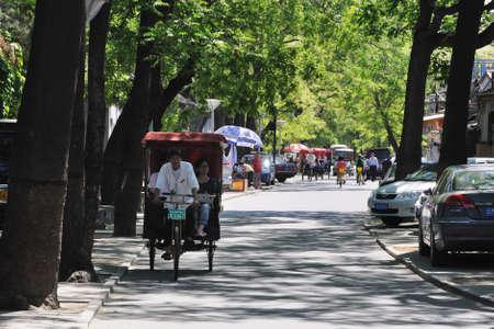 rikscha: China Beijing Hutong die Rikscha
