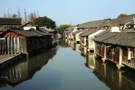 The scenery of Wuzhen, one of the Chinese ancient town photo