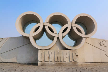 olympic rings: Olympic rings Editorial