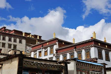 shangrila: Buildings in Shangri-La, China