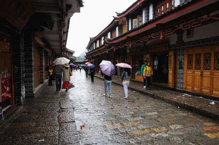 compile: Old town of Lijiang, Yunnan, China Editorial
