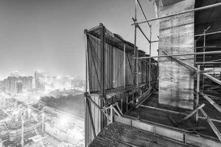 concrete commercial block: Building site